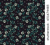 elegant seamless pattern with... | Shutterstock .eps vector #651674485