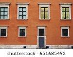 picturesque facade of warsaw... | Shutterstock . vector #651685492