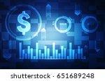 stock market graph and bar...   Shutterstock . vector #651689248
