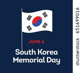 south korea memorial day | Shutterstock .eps vector #651699016