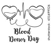 hand draw blood donor day doodle | Shutterstock .eps vector #651699526