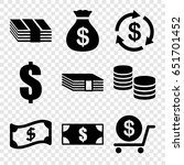 tax icons set. set of 9 tax... | Shutterstock .eps vector #651701452