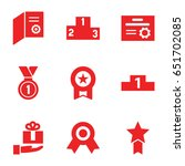 ribbon icons set. set of 9... | Shutterstock .eps vector #651702085