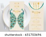 wedding menu card templates... | Shutterstock .eps vector #651703696