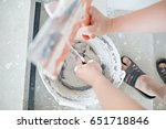 2 putty knives | Shutterstock . vector #651718846