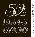 vector handwritten calligraphic ... | Shutterstock .eps vector #651721156