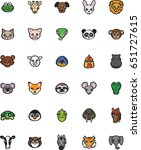 animal icon set  color... | Shutterstock .eps vector #651727615