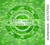 love more worry less green... | Shutterstock .eps vector #651737032