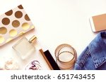 woman fashion and beauty...   Shutterstock . vector #651743455