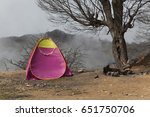 Small photo of Tents for camping in the forest, Of the Abr Jungle of Shahrood Iran