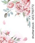 Watercolor Light Pink  Rose...