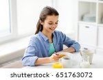 healthy eating  family and... | Shutterstock . vector #651763072