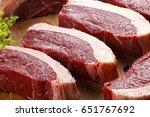 raw picanha | Shutterstock . vector #651767692