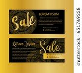 golden banners. gold text. gift ... | Shutterstock .eps vector #651769228