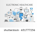 electronic healthcare or e... | Shutterstock .eps vector #651777256