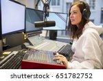 female host using control panel ... | Shutterstock . vector #651782752