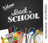 back to school background with... | Shutterstock .eps vector #651789202