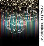 vector two christmas balls with ... | Shutterstock .eps vector #65179150