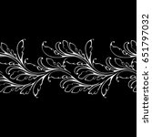 lace leaves seamless pattern.... | Shutterstock .eps vector #651797032