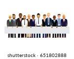 business men in a line | Shutterstock .eps vector #651802888