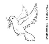 dove the bird of peace | Shutterstock .eps vector #651803962