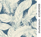 feather background pattern | Shutterstock .eps vector #651804088