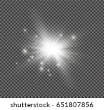 glow light effect. star burst... | Shutterstock .eps vector #651807856