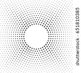 halftone dotted background... | Shutterstock .eps vector #651810385