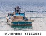 Blue Wooden Fishing Boat...
