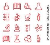 scientific icons set. set of 16 ... | Shutterstock .eps vector #651820258