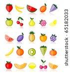 energy fruits. vector... | Shutterstock .eps vector #65182033