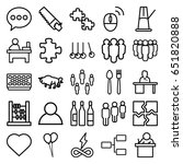 group icons set. set of 25... | Shutterstock .eps vector #651820888