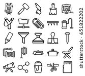 tool icons set. set of 25 tool... | Shutterstock .eps vector #651822202