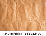 abstract brown recycle crumpled ... | Shutterstock . vector #651822406
