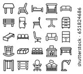 furniture icons set. set of 25... | Shutterstock .eps vector #651824686