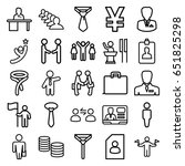 businessman icons set. set of... | Shutterstock .eps vector #651825298