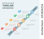 infographic steps growth by... | Shutterstock .eps vector #651826216