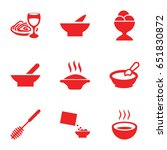 bowl icons set. set of 9 bowl... | Shutterstock .eps vector #651830872
