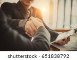 successful meeting. two... | Shutterstock . vector #651838792