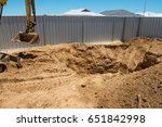 excavation works for the... | Shutterstock . vector #651842998