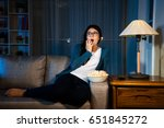 beauty elegant girl watching...   Shutterstock . vector #651845272