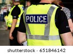 police officer on duty on a... | Shutterstock . vector #651846142