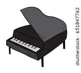 piano | Shutterstock .eps vector #651847762