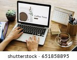 illustration of coffee cup... | Shutterstock . vector #651858895