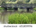 bridge over stream | Shutterstock . vector #651859996