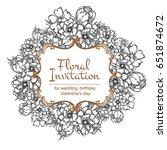 vintage delicate invitation... | Shutterstock .eps vector #651874672