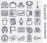 web icons set. set of 25 web... | Shutterstock .eps vector #651879922