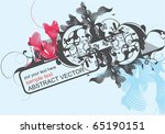 abstract modern vector with... | Shutterstock .eps vector #65190151