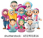 vector illustration of happy... | Shutterstock .eps vector #651901816