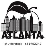 atlanta georgia city skyline... | Shutterstock .eps vector #651902242